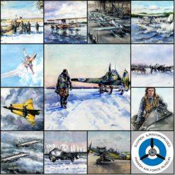 Ilmavoimat 100 -akvarellit